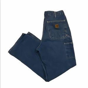 Carhartt men's cargo blue jeans size 33x32